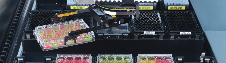 liquid handling robot by Hamilton Company in action