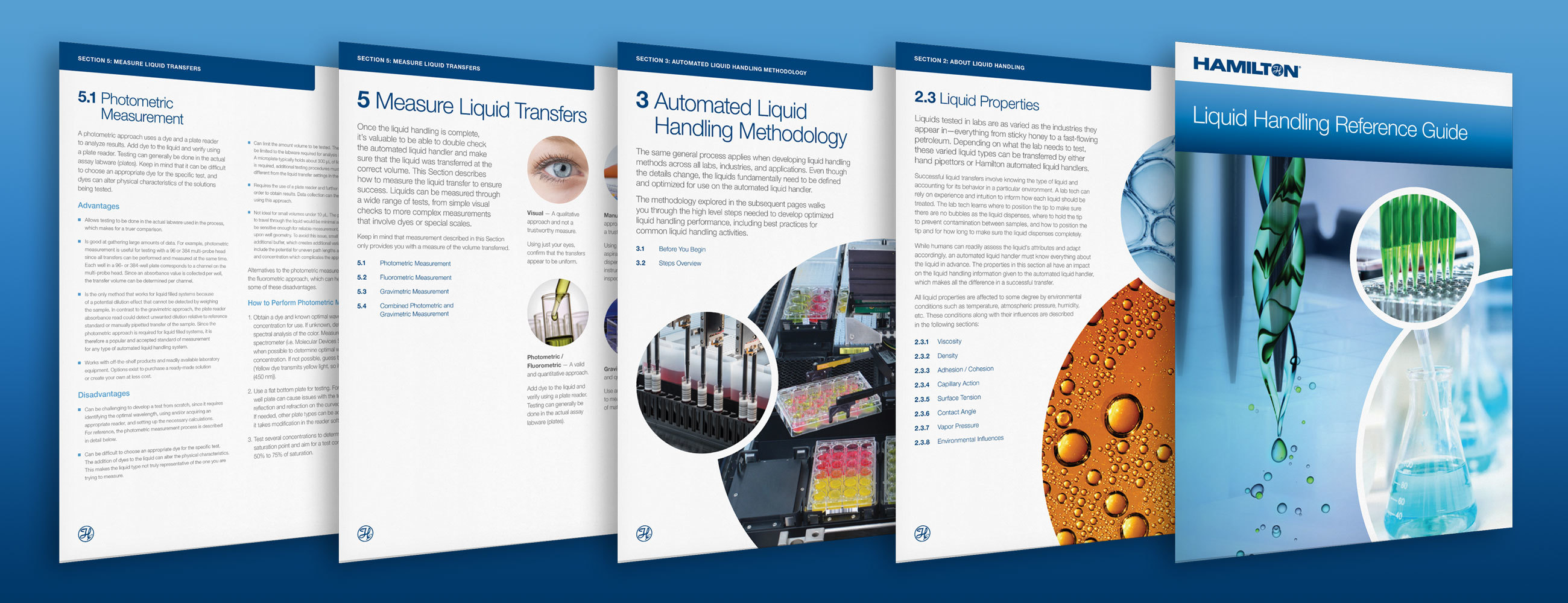 Pages from Hamilton's downloadable liquid handling guide
